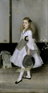 Harmony in Grey and Green: Miss Cicely Alexander 1872-4 by James Abbott McNeill Whistler 1834-1903