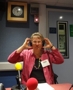 Eileen on air at the BBC