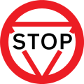 156 stop sign