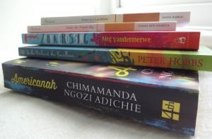 157 book pile