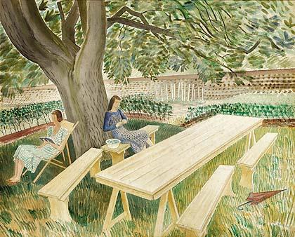 Eric Ravillous, Two Women in a Garden, 1933