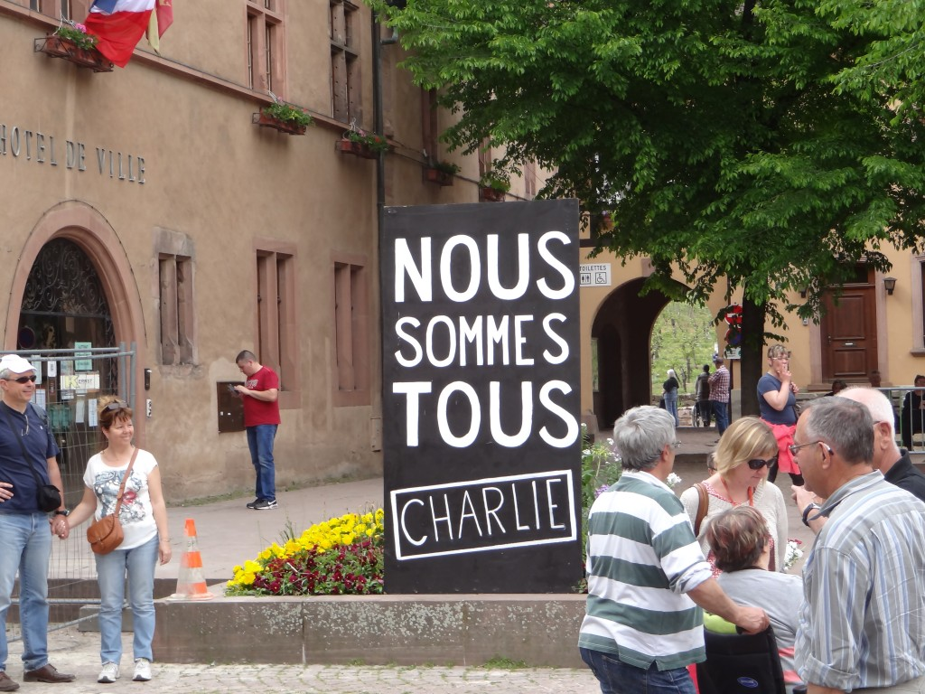 Nous Sommes Tous Charlie in Kayserberg May 2015