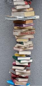 Library in Radstadt, book tower. Herzi Pinki via WikiCommons