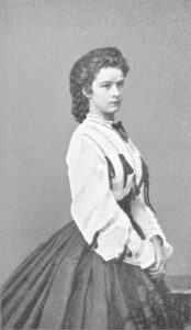 Photograph of Empress Elisabeth by Ludwig Angerer 1862 via WikiCommons