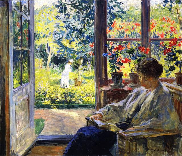 Gari Melchers Woman Reading by a Window 1895