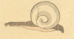 Snail: Katsushika Hokusai (葛飾北斎) [Public domain], via Wikimedia Commons