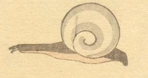 Snail: Katsushika Hokusai (葛飾北斎) [Public domain], via Wikimedia Commons