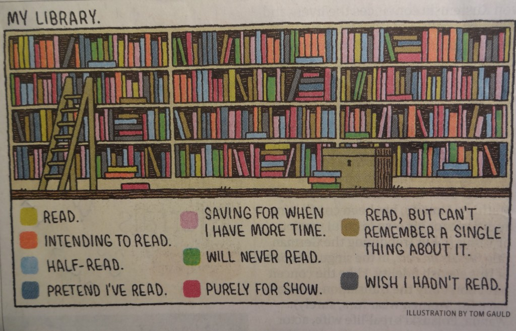 My Library by Tom Gauld