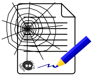 Spider's web document by Iago One via Wikimedia