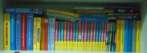 Blyton Bookshelf by Blytonite at en.wikipedia