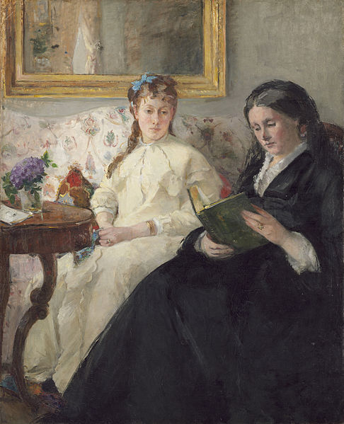 Mother and sister of the artist by Berthe Morisot 1969/70 National Gallery of Art, US, via wikicommons