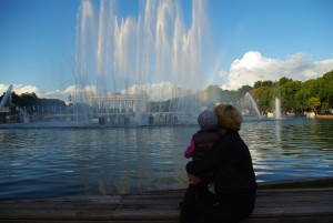 Gorky Park, musical fountains playing Russian classics