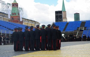 Red Square, rehearsing for Moscow Day 2015