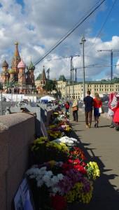 Memorial toBoris Nemtov, shot on this bridge in February 2015