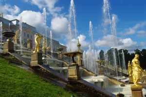 The Peterhof, a post-war reconstruction