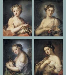 Les 4 saisons par ou d'apres Rosalba Carriera (1675-1757) via Wikimedia