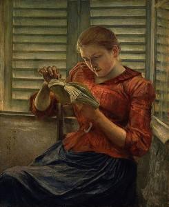 Woman Reading by Kuroda Seiki (1866-1924) in Tokyo National Museum via WikiCommons