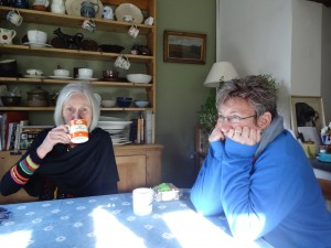 Marianne and Eileen in Caroline's kitchen in January 2015