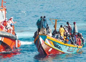 Rescue off the Canaries, November 15th 2006. Noborder Network via WikiCommons.